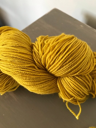 Marigold dyed yarn June 2018