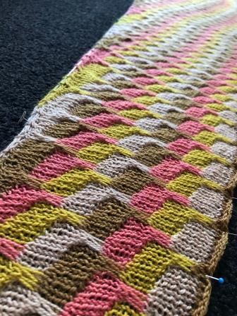 Same yarn knit up, photo 2020